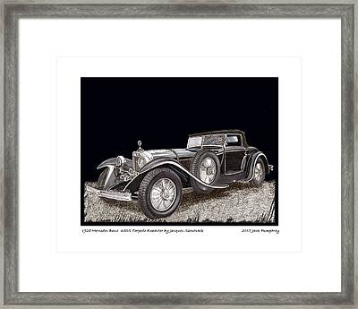 1928 Mercedes Benz 680 S Framed Print by Jack Pumphrey