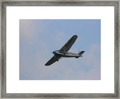 1929 Ford Tri Motor Mail Plane Turning Framed Print by David Dunham