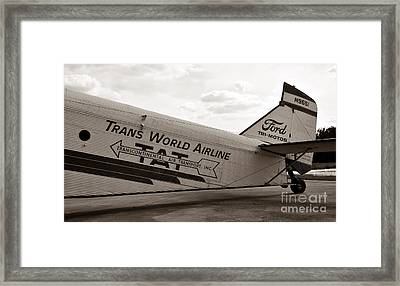 1929 Ford Trimotor Framed Print by David Lee Thompson