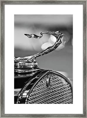 1930 Cadillac Roadster Hood Ornament 2 Framed Print by Jill Reger