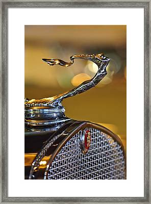 1930 Cadillac Roadster Hood Ornament Framed Print by Jill Reger