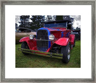 1930 Ford V8 Model A Hot Rod Framed Print by Thom Zehrfeld