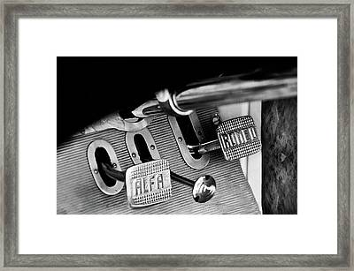 1931 Alfa Romeo 6c 1750 Gran Sport Aprile Spider Corsa Pedals -3689bw Framed Print by Jill Reger