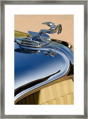 1931 Chrysler Cn Roadster Hood Ornament 3 Framed Print by Jill Reger