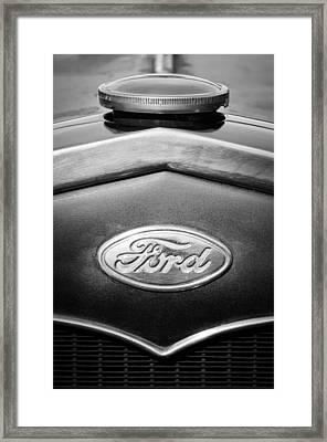 1931 Ford Emblem -0376bw1 Framed Print by Jill Reger