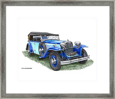 Classic 1931 Ruxton C Dual Cowl Phaeton Framed Print by Jack Pumphrey