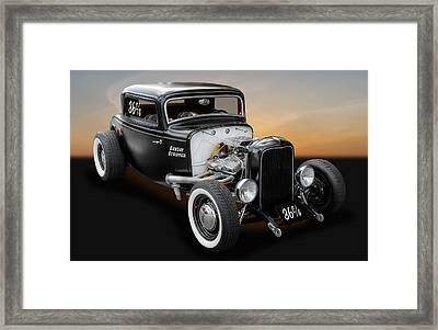 1932 Ford Deuce Coupe C/gas Roadster Framed Print by Frank J Benz