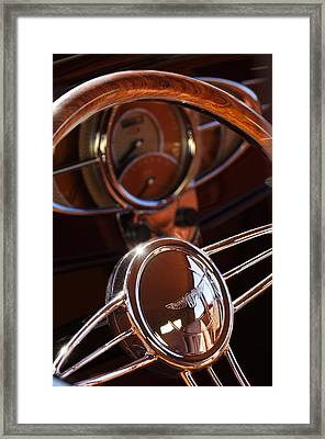 1932 Ford Hot Rod Steering Wheel Framed Print by Jill Reger