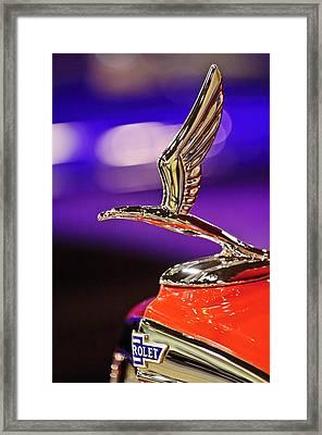 1933 Chevrolet Hood Ornament Framed Print by Jill Reger