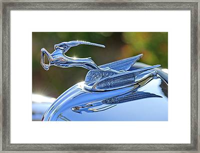 1933 Chrysler Imperial Hood Ornament 2 Framed Print by Jill Reger