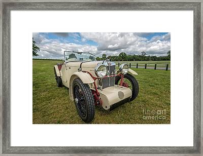 1933 Mg Sports Car Framed Print by Adrian Evans