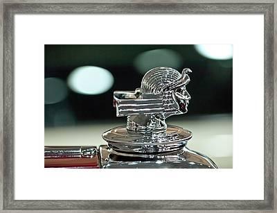 1933 Stutz Dv-32 Dual Cowl Phaeton Hood Ornament Framed Print by Jill Reger