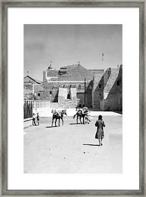 1934 And 1939 Bethlehem Nativity Church  Framed Print by Munir Alawi