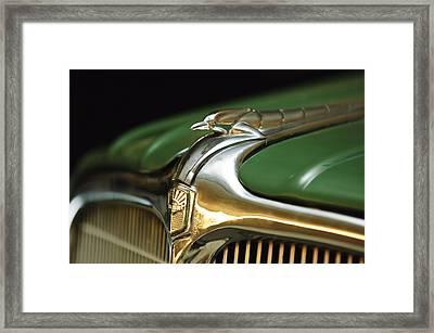 1934 Nash Ambassador 8 Hood Ornament Framed Print by Jill Reger