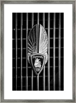 1934 Plymouth Emblem 2 Framed Print by Jill Reger