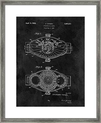 1935 Astronomical Watch Framed Print by Dan Sproul