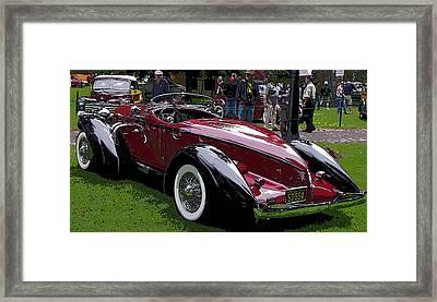 1935 Auburn Boattail Speedster Framed Print by Thom Zehrfeld