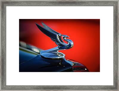 1935 Chevrolet Sedan Hood Ornament -0116c Framed Print by Jill Reger