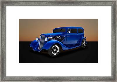 1935 Chevrolet Standard 2-door Sedan  -  35chsd11 Framed Print by Frank J Benz
