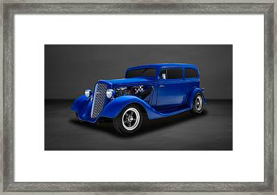 1935 Chevrolet Standard 2-door Sedan  -  35chsd22 Framed Print by Frank J Benz