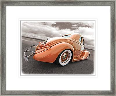 1935 Ford Coupe In Bronze Framed Print by Gill Billington
