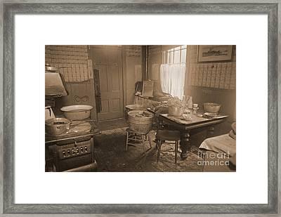 1935 Kitchen Framed Print by Padre Art