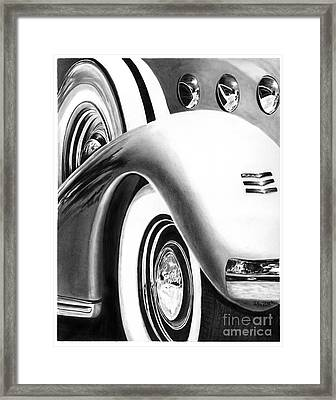 1935 Lasalle Abstract Framed Print by Peter Piatt