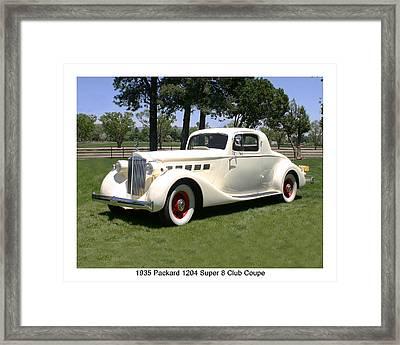 1935 Packard 1204 Super 8 Club Coupe Framed Print by Jack Pumphrey
