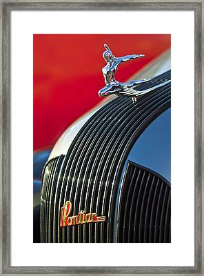 1935 Pontiac Sedan Hood Ornament Framed Print by Jill Reger