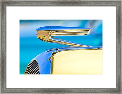 1936 Buick 40 Series Hood Ornament Framed Print by Jill Reger