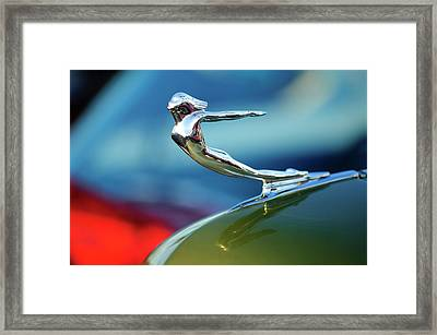 1936 Cadillac Hood Ornament 2 Framed Print by Jill Reger