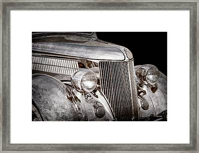 1936 Ford - Stainless Steel Body -0371ac Framed Print by Jill Reger