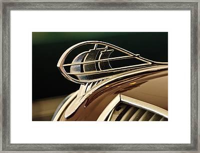 1936 Plymouth Sedan Hood Ornament Framed Print by Jill Reger