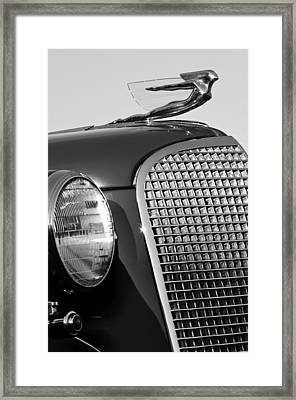 1937 Cadillac V8 Hood Ornament 3 Framed Print by Jill Reger