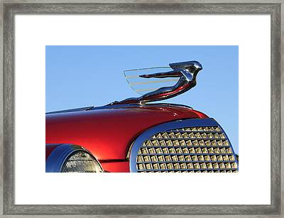 1937 Cadillac V8 Hood Ornament Framed Print by Jill Reger
