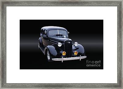 1935 Chevrolet Master Sedan B/w Framed Print by Thomas Burtney