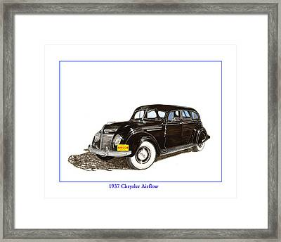 1937 Chrysler Airflow  Framed Print by Jack Pumphrey
