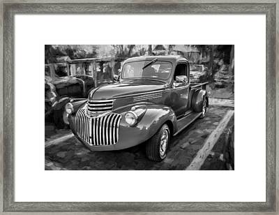 1938 Chevrolet Pick Up Truck Painted Bw Framed Print by Rich Franco
