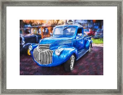 1938 Chevrolet Pick Up Truck Painted  Framed Print by Rich Franco