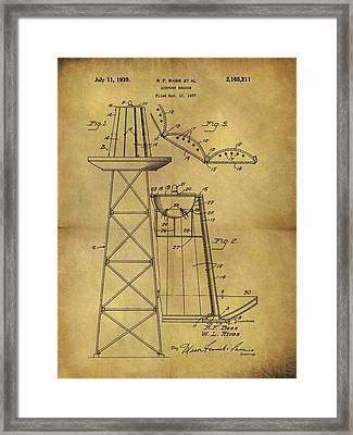 1939 Airport Beacon Patent Framed Print by Dan Sproul
