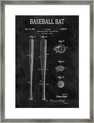 1939 Baseball Bat Illustration Framed Print by Dan Sproul