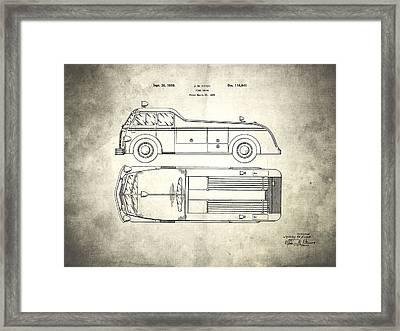 1939 Fire Truck Patent Framed Print by Mark Rogan