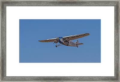 1939 Ford Tri Motor Airplane Framed Print by Roger Mullenhour