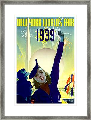 1939 New York Worlds Fair Framed Print by Jon Neidert