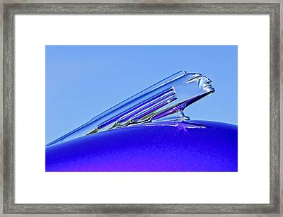 1939 Pontiac Coupe Hood Ornament 2 Framed Print by Jill Reger