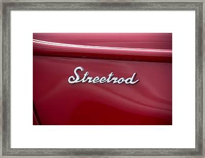 1939 Red Ford Truck Streetrod Emblem Framed Print by Robert Kinser