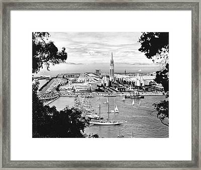 1939 Treasure Island View Framed Print by Underwood Archives