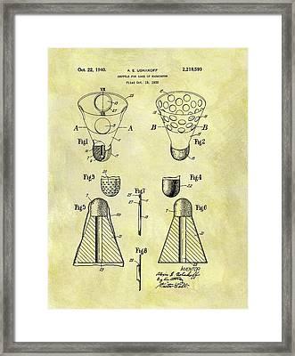 1940 Badminton Shuttle Patent Framed Print by Dan Sproul