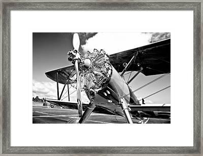1940 Stearman Biplane Framed Print by David Patterson