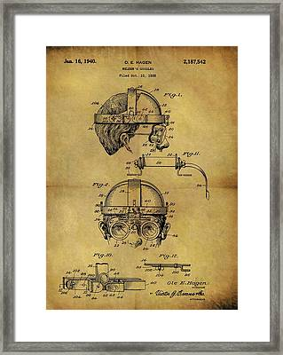 1940 Welder Goggles Patent Framed Print by Dan Sproul